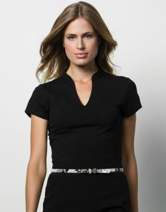 Corporate Short Sleeves V Neck Top
